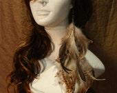 Elegant Burnt Chinchilla Pheasant Coque Earring