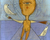 Jenny Mendes Limited Edition Giclee - Bird Man