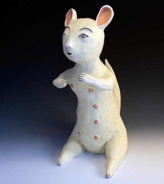 Original Jenny Mendes Animal Sculpture - Mellow