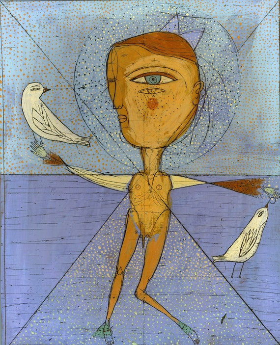 Special - Jenny Mendes Limited Edition Giclee - Bird Man