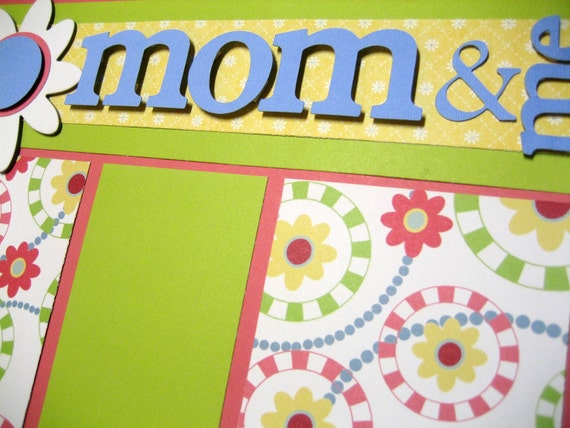 Scrapbook Pages Mom Mother Spring 12x12 Layout Kit Last One