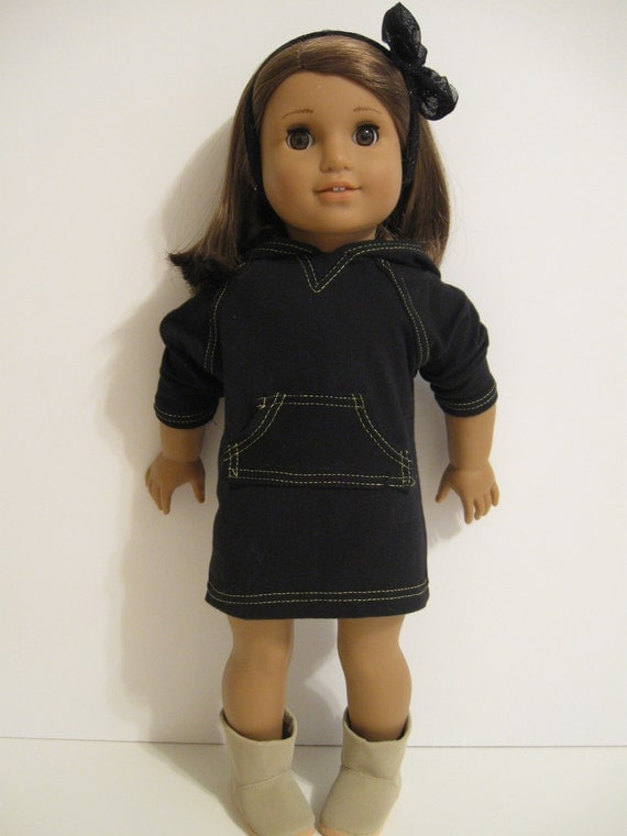 American Girl Doll Clothes Back To School Hoodie Dress-3006