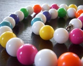 Reserved 1980s Bubble Gum New Wave Necklace