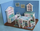 """Only three ktis left-House & Garden Dining Room Furniture Set Kit(33)in Quarter Inch or 1/4"""" or 1:48th Scale OR doll furniture for 1"""" scale"""