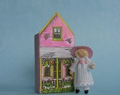 """Miniature 1/4"""" and 1"""" scales doll and dollhouse kit (1e)"""