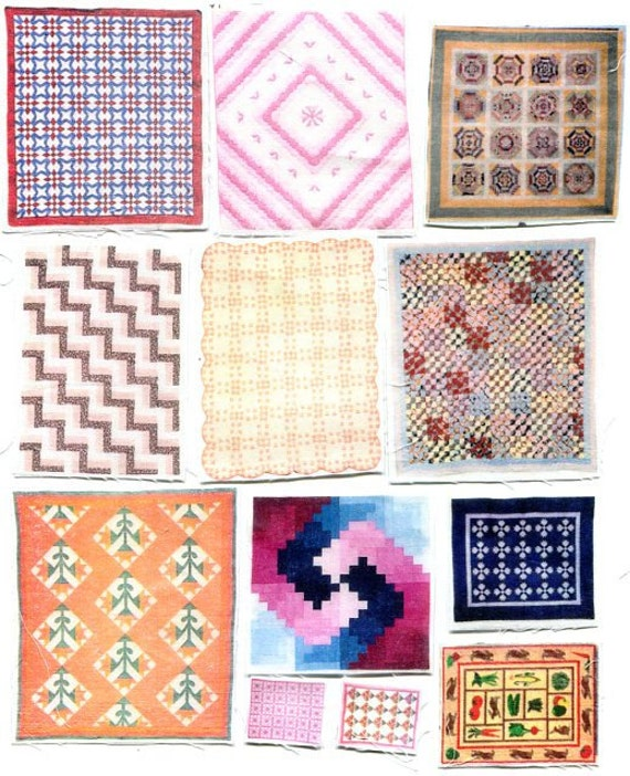 """Half price SALE - Quilts (group 6) for 1/4"""" or quarter scale"""