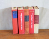 Vintage Books, Collection of Five, Reds