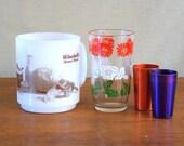 Vintage Glasbake Coffee Mug, Swanky Swig Glass, Aluminum Shot Glasses, Collectibles