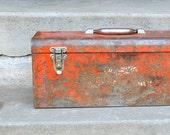 Vintage Tool Box, Milwaukee Metal