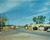 Vintage Postcard, Eastern Arizona Town, 1940s or 50s