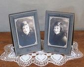 Vintage Studio Photographs, Young Woman,  Art Deco Studio Frames