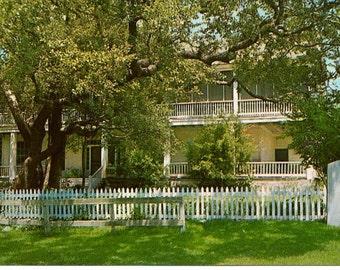 Vintage Postcard, 1855 Homestead, Independence, Texas 1960s