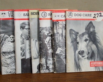 Vintage Scout Books, Merit Badge Series, six Books