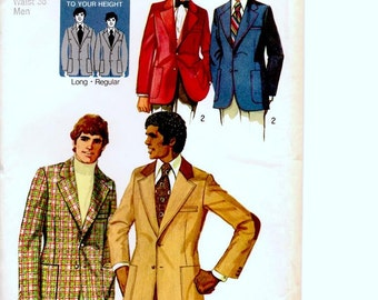 Vintage Sewing Pattern, Simplicity Mens Jacket New Uncut