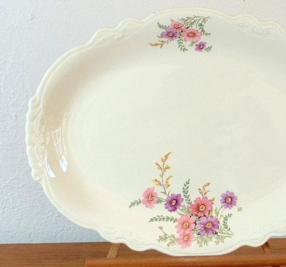 Vintage Platter, Homer Laughlin, Virginia Rose