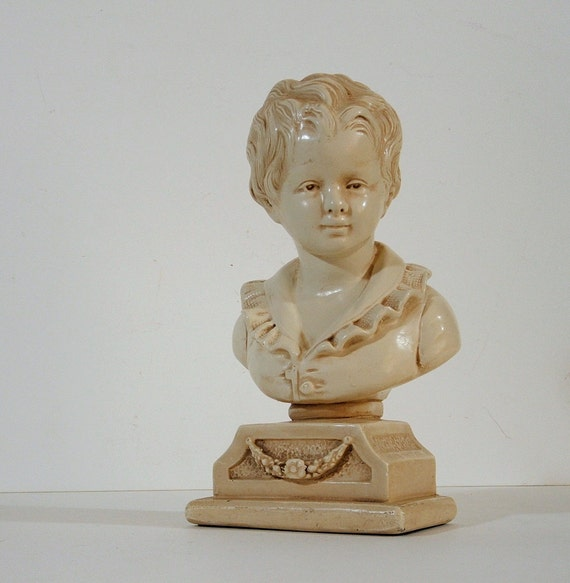 Bust Sculpture of A French Boy by Alexander Backer