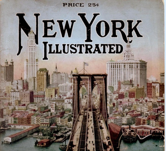 Antique Pictorial Book, New York Illustrated