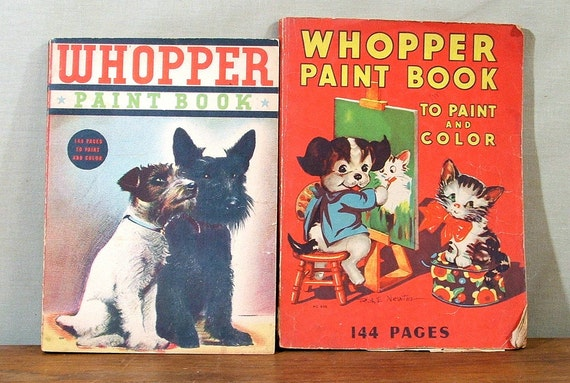 Vintage Coloring Books, Color and Paint, 1930s