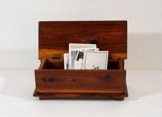 Wood Box Vintage Handmade Box with Lid