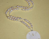 Sand Dollar Bridal Necklace for Mandi.