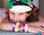 Colorful Button Stretch Bracelets(For Kids)