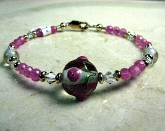 SALE- Pretty in Pink Girl's bracelet