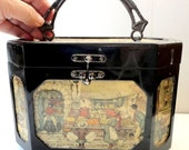 ON SALE 25% OFF Vintage 1960s Purse, Bag -Plastic Box Style With Images