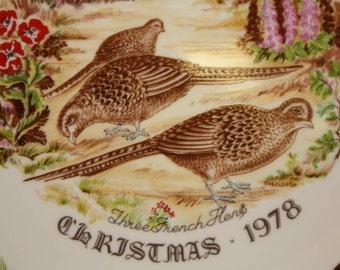 Royal Grafton Twelve Days of Christmas 1978 Collectors Plate