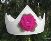 Sophie's Garden Party Felt Crown -- For Birthdays and Imaginative Play