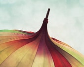 Color Photography - Red - Yellow - Green - Bumbershoot 11x14 Fine Art Print