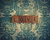 Collage Photography Print - It's Spelled Love 8x10