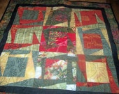 Oriental Nine Patch Quilt Wall Hanging or Table Cover-Original Design
