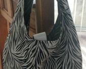 Eco-Friendly Zebra Print HOBO Handbag