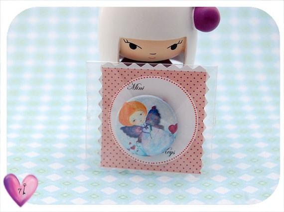 Garden fairy - Mini buttons 25mm