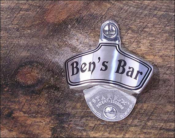 Personalized Stainless Steel Bottle Opener Groomsmen Gift