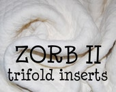 Zorb II Tri-fold Inserts or Pre-fold Diapers //Custom Sizes Available//