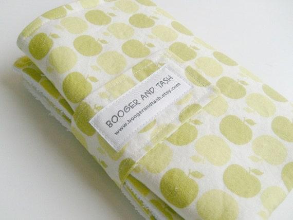 Lime Apple Dot Portable Baby Change Mat