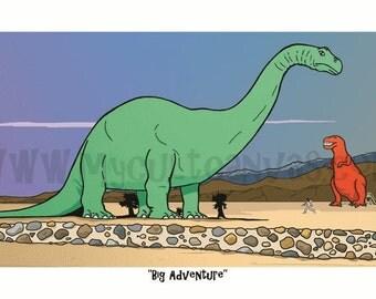"Original ""Big Adventure"" Art Print Poster by Phil Gibson Pee Wee Herman Tim Burton"