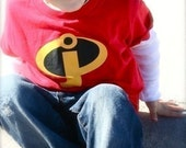Custom Super Hero, Incredibles Shirt - All Sizes, Infant, Toddler, Youth and Adults