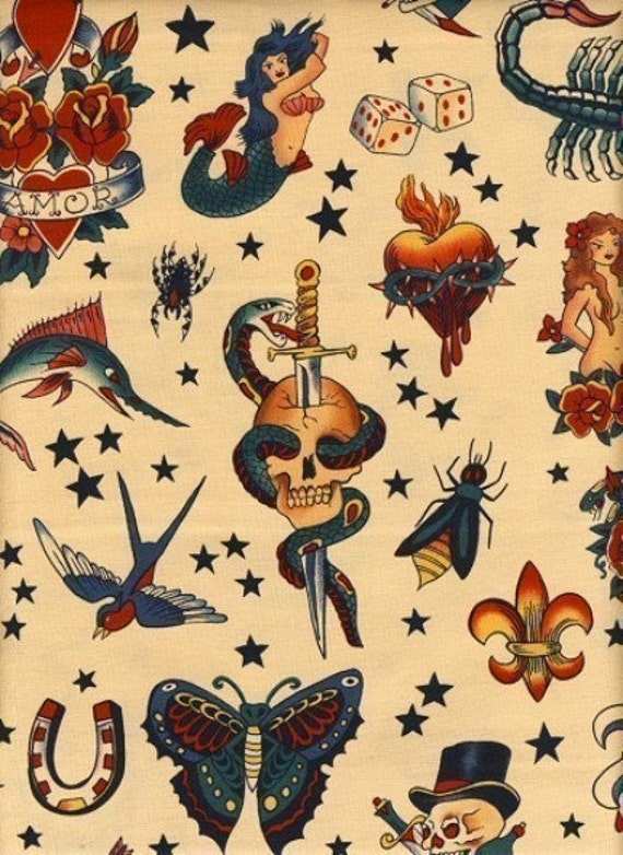 alexander henry tattoo fabric just yard
