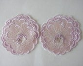 VINTAGE  Lace Appliques, See through  FlowersLace Appliques Embellishment for Bridal Supplies and Craft Making.