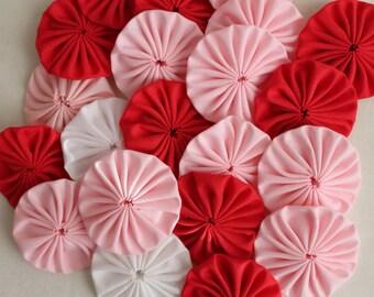 15 pcs,Mix color  Cotton Yoyo Appliques