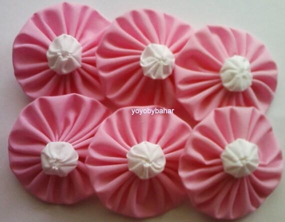 20 pcs Pink Cotton APPLIQUES
