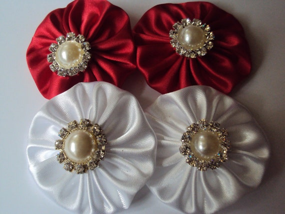 Handmade   wedding appliques with faux pearl.