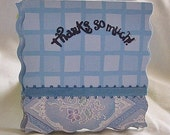Taylors Handmade Blue Checkered Cards  C19