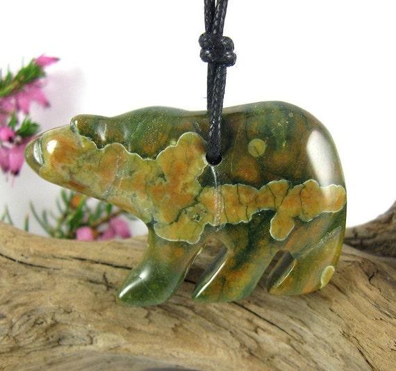 Mama Bear Nursing Necklace - Rhyolite