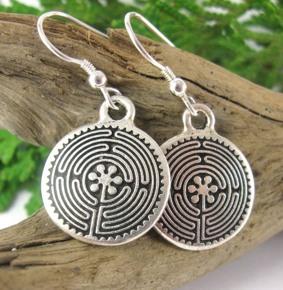 Labyrinth Earrings - Labyrinth Birth Collection - Birth Earrings