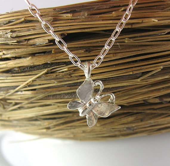 Butterfly Fertility Necklace - Sterling Silver Charm Necklace