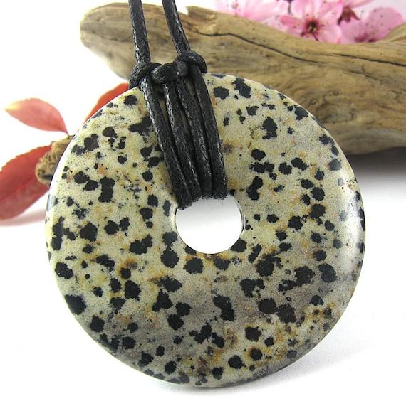 Artemis Nursing and Weaning Necklace - 50mm Dalmatian Jasper Breastfeeding Necklace