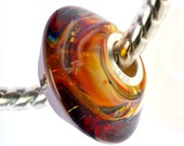 Large Hole bead lampwork bead fits trollbeads and other Euro style Bracelets lampwork boro glass beads